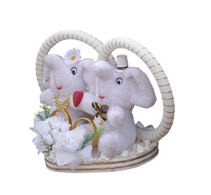 Elephants in Love: A pair of lovely elephants.
