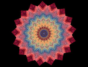 colourful cloth mandala