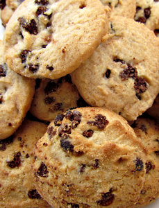 choc chip cookies: chocolate chip sweet biscuits