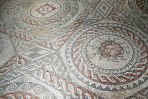 Ancient Roman mosaic floor