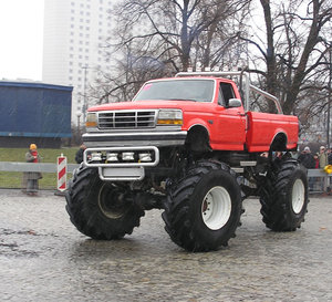 Monster truck: A monster truck in Poland.