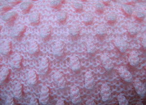 crocheted pink