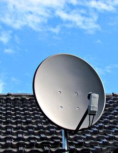 rooftop satellite dish
