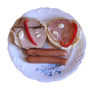Sandwiches: Some sandwiches and hot-dogs.