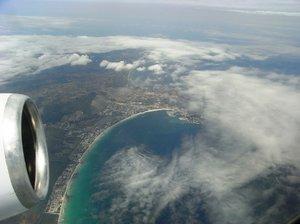 Flying over Majorca