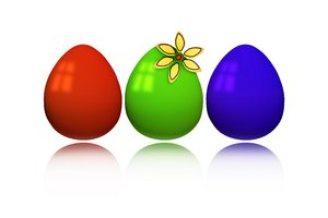 RGB Easter eggs: Happy Easter!