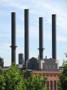 industrial plant: the university of minnesota steam plant, in minneapolis.