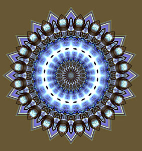 blue light glow mandala