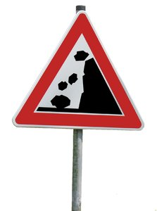 rockfall traffic sign
