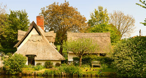 Thatched Cottage: Old English thatched cottage.