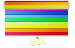 Rainbow curtain blanc