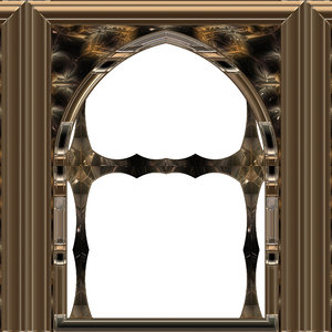 Gothic Window Bronze: A 3D fantasy bronze gothic styled window. Can be used as a frame as well.