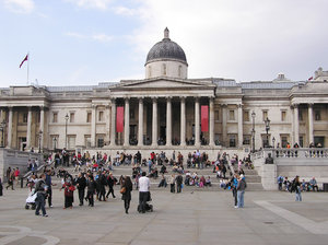 Trafalgar square: A Trafalgar Square in London.