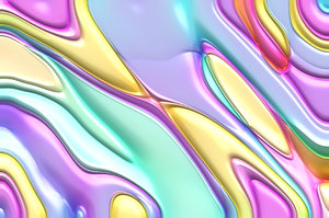 Shiny Plastic Background: Multi-coloured shiny plastic background. Beautiful eye-catching colours. Makes a great texture, background or fill.