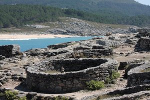 Hill fort 3: Celtic hill fort in Baroña, Galicia, Spain, EU
