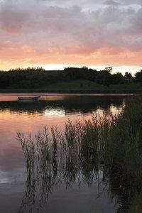 Boat at dusk