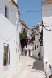 Altea streets 2: Old streets at the old centre of the spanish village Altea