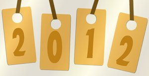 2012 Tags: Grungy tags with the numbers making up 2012.