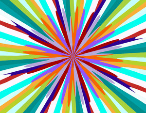 radiating colour palette: abstract backgrounds, textures, patterns, geometric patterns, shapes and perspectives from altering and manipulating images