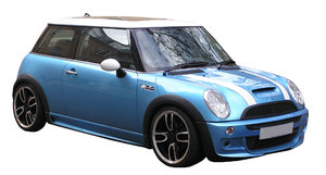 Blue car: Blue town car. Sport version.