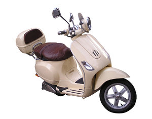Scooter: This is a scooter. Isolated for your convenience. I think it is Vespa.