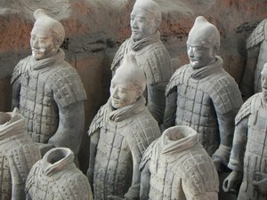 terracota soldiers: Xian, China
