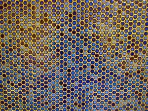 blue round tiles texture