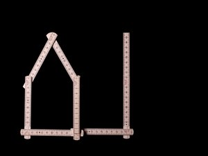 A folding ruler as a house and