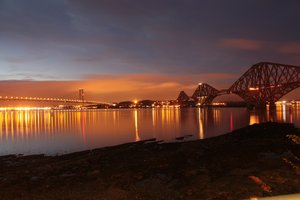 Forth Bridges at night