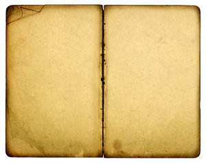 Open Book: A vintage open book.