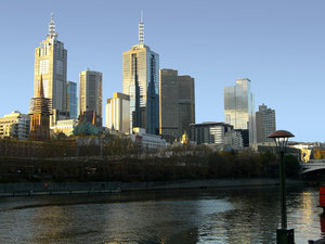 City of Melbourne by the Yarra