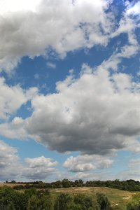 big sky: lots of cloudy sky above a rural Rutland scene...