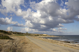 Coast road: The old coast road in northern Cyprus.