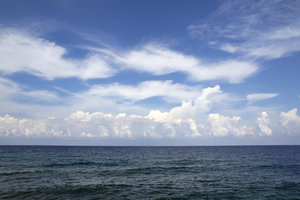 Sea and sky: The Mediterranean from the north coast of Cyprus.