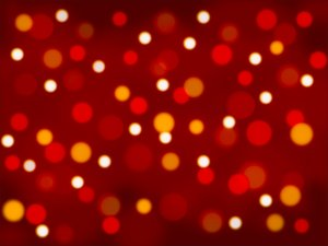 Red and Gold Bokeh