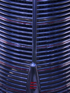 blue round grille: old vintage vehicle radiator grille