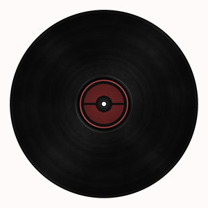 Vinyl Record: An old fashined vinyl record. Space to add your own label.