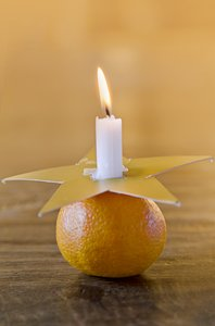 tangerine candle holder