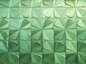 green metal trefoil texture