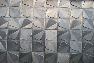 silver metal trefoil texture