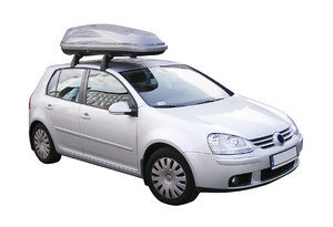 Car with roof rack: Roof rack car.