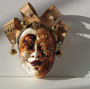 Venetian Mask: A handmade ceramic mask from Italy