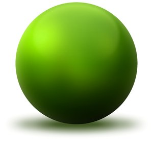 Green Ball: Green ball on the white background