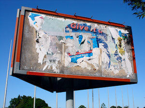billboard: outdoor billboard - 3 sided structure