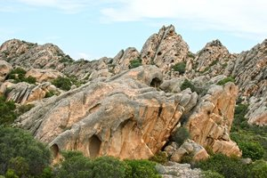 Strange rock formations: Rock formations on the Maddalena islands, Sardinia.