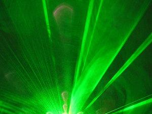 green light: light laser show