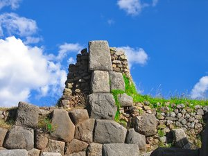 Inca Ruins: Inca Ruins from Saqsaywaman, Peru (near the town of Cusco)