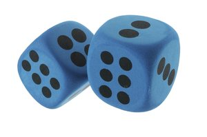 dice: two blue dices