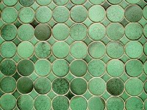 round green tiles texture
