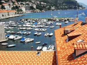 Old Dubrovnik town harbour.